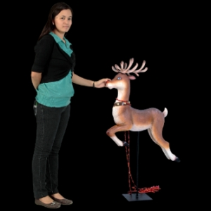 REINDEER FOR SANTA ON SLEIGH - JR 110004R