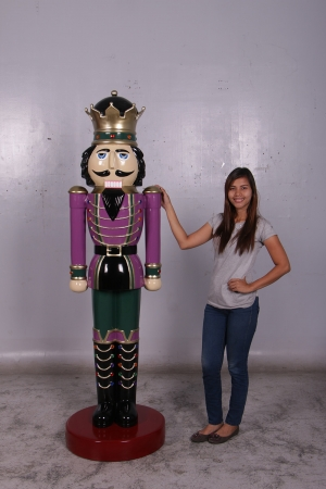 Nutcracker King 6.5ft - Purple Jacket (JR 110013P)