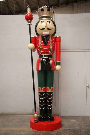 Nutcracker 12ft with Scepter - Right Hand (JR 130091RG)