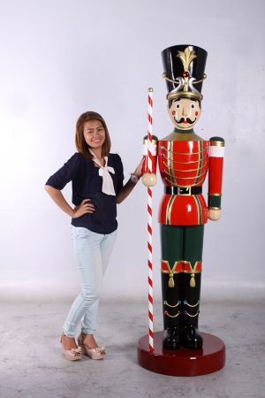 Toy Soldier with Baton 6.5ft - Red & Green (JR 140109G)