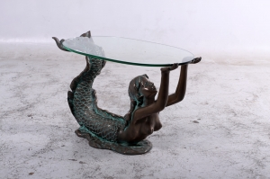 MERMAID TABLE WITH GLASS TOP - SMALL JR 150070