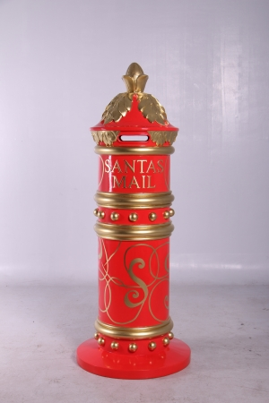 RED AND GOLD DETAIL MAILBOX - JR 150239