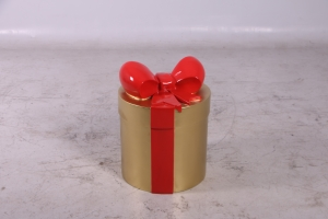 JR 150241 GOLD PRESENT WITH RED RIBBON