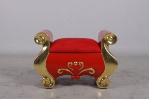 FOOTSTOOL RED/GOLD JR 170092