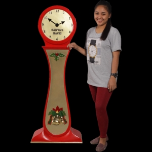'SANTA'S BACK' CLOCK - JR 180193