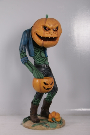 SCARY PUMPKIN MAN WITH CANDY HOLDER - JR 200009