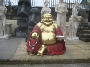 Buddha Sitting in red and gold (JR 2358-RG)