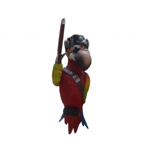 PIRATE PARROT ONE EYE WITHOUT STAND - JR C-073