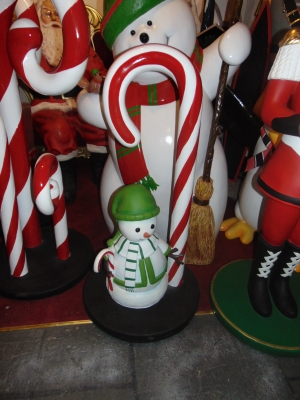Candy Cane with Snowman mini (JR S-182)