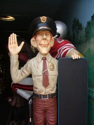 American Policeman Figure with Menu-Board 5.5ft (JR 1849)