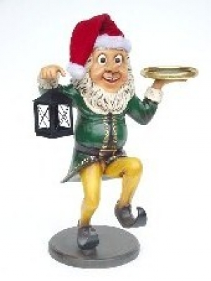 Elf Butler with Lamp & Tray 3ft (JR 2237)