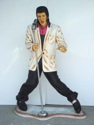 Elvis style Singer with Microphone 6ft (JR 667)