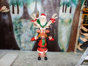 Elf on back of funny Reindeer (JR HW)