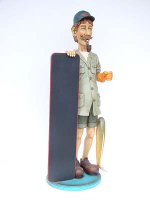 Fisherman Figure with Menu-board 5.5ft (JR 1884)