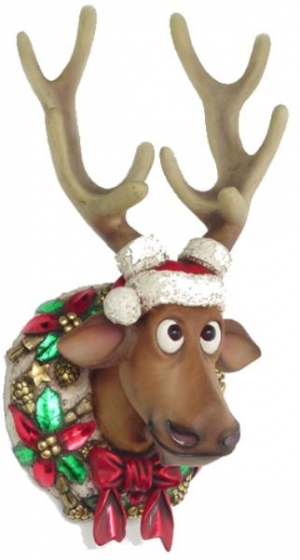 Funny Xmas Reindeer Head (JR 2261)