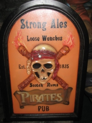Pirate Pub Advertising Sign 2ft Tall (JR AP1655)