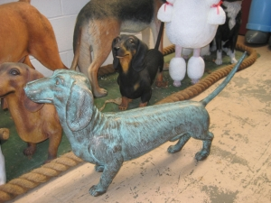 Daschund Dog in Bronze (JR 110105brz)