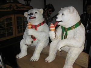 Polar Bear sitting with ice cream 2ft (JR 2727-W)
