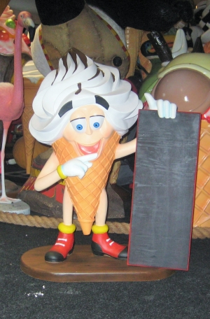 Ice Cream Boy with Menu Board 3ft (JR 2854)