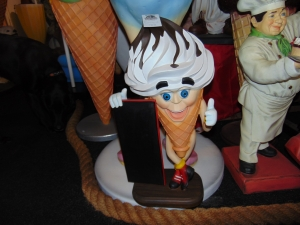 Ice Cream Boy with Menu Board 2ft (JR 2855)