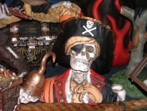 Pirate Skull Bust Captain Hook (JR 2435)