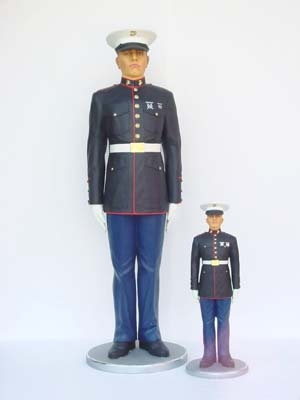 Marine in Attention 6ft (JR 2184)