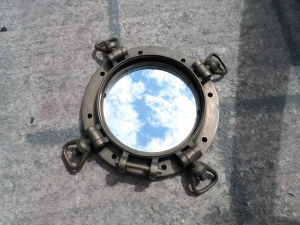 "Porthole Mirror WW11 US Navy 15"" Dia (JR 120068)"
