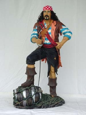 Pirate Stood on Barrel 6ft (JR 1430)
