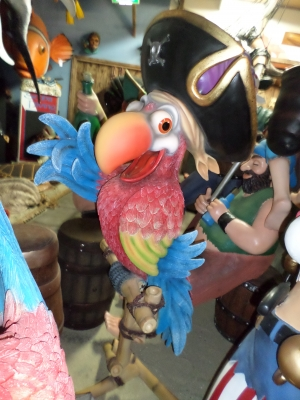 Parrot with Hat on Stand  - Comical (JR C-067)