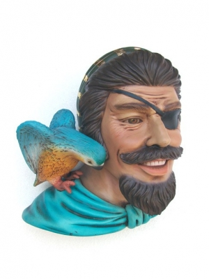 Pirate Head with Bird Wall Decor (JR 2343)