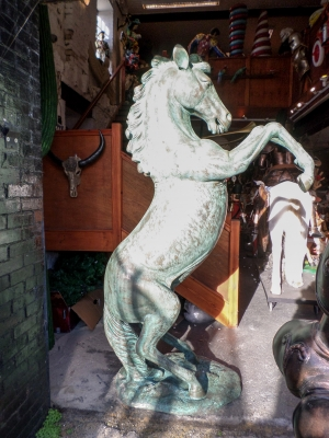 Rearing Horse in Bronze (JR 140059B)