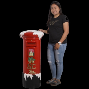 Santa's Mailbox 100cm - Red (JR 180031R)