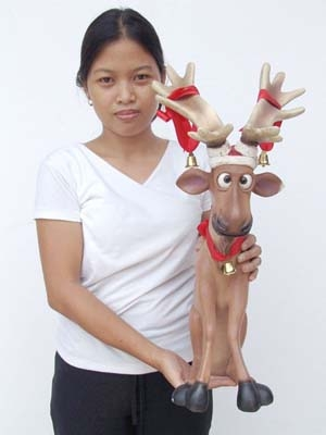 Funny Reindeer Sitting (JR 2294)