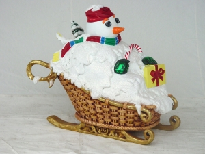 Snowman on Sleigh (JR 1772)