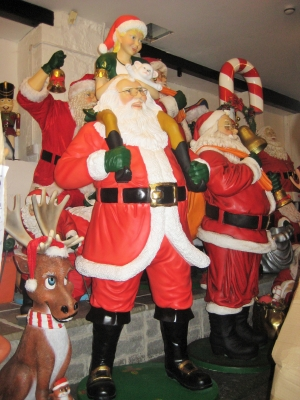 Santa with Elf Girl 7.7ft (JR 2735)