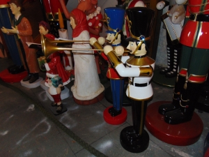Toy Soldier with Trumpet 4ft- Black/White/Gold (JR 140009BWG)