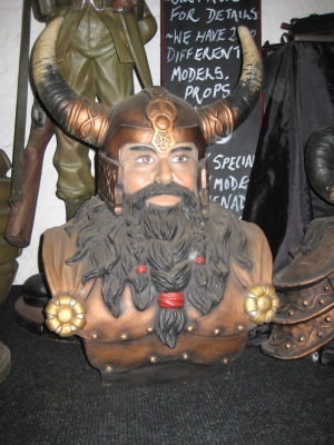 Viking Male Bust - (JR 2279)