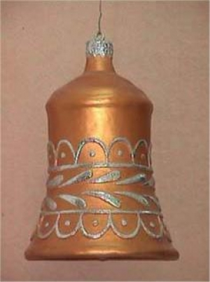 Christmas Decor Bell Gold w/Silver (JR 1188-B)