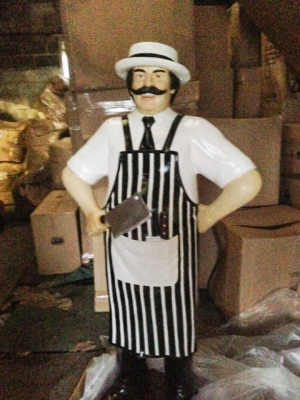Butcher 6ft Black and White (JR 100117B)