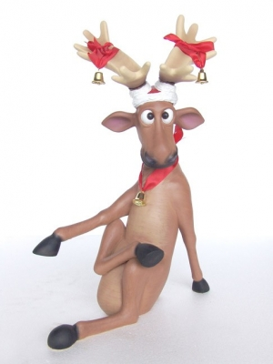 Funny Reindeer sitting with crossed legs (JR 2316)