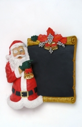 Santa Claus standing with Board - 2ft (JR PB-08) - Thumbnail 01