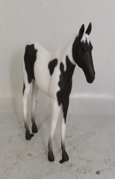 Horse Standing - Black & White 3ft (JR 100011) - Thumbnail 01