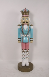 Nutcracker King 6.5ft - Blue & Pink (JR 110013BP)