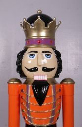 Nutcracker King 6.5ft - Orange Jacket (JR 110013O) - Thumbnail 02