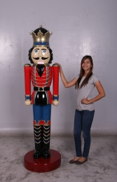 Nutcracker King 6.5ft - Red & Blue (JR 110013RB)