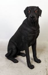 Labrador sitting - Black (JR 110098B)
