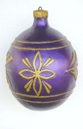 Christmas Decor Ball Purple w/Gold 2.5ft (JR 1192-D) - Thumbnail 01