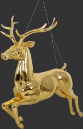 Flying Reindeer- Gold Leaf (JR 120066GL) - Thumbnail 02