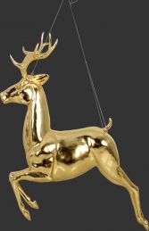 Flying Reindeer- Gold Leaf (JR 120066GL) - Thumbnail 01