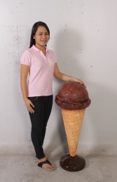 Standing Ice Cream Small - Chocolate 3ft (JR 130017c) - Thumbnail 02